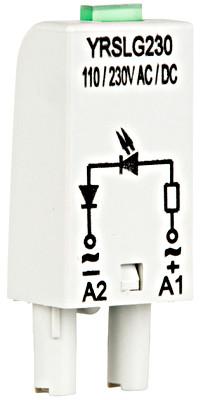 Модуль зеленого светодиода для гнезд YRS, 110-230 / AC, A1 +, Schrack