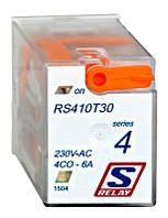 Реле промежуточное 4п.к. 6А 230В AC, защитный диод, красный LED Schrack