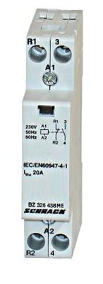 Модульный контактор 20А 1но + 1НЗ 230 AC Schrack