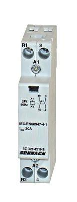 Модульный контактор 20А 1но + 1НЗ 24В AC Schrack