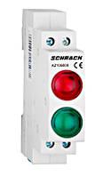 Модульный LED индикатор двойной красный / зеленый 230В AC Schrack