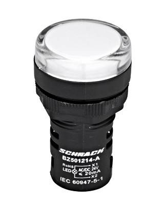 LED Индикатор белый 24В AC / DC Schrack