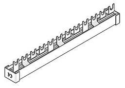 Шина з U-подібними висновками, 4Пол, 10мм, 12мод. / ПЗВ + авт. Schrack