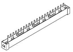Шина з U-подібними висновками, 3пол, 10мм, 11мод. / ПЗВ + авт. Schrack