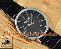 Наручные мужские часы Longines Quartz Silver Black кварцевые класический стиль