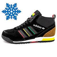 Зимние мужские кроссовки Адидас Adidas ZX TR MID черные Топ качество!