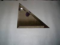 Плитка зеркальная треугольник 212мм серебро фацет 10мм, фото 1