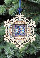 F-080 Набор новогоднее украшение из фанеры Витражная снежинка