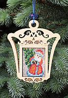 F-081 Набор новогоднее украшение из фанеры Дед Мороз