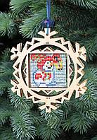 F-082 Набор новогоднее украшение из фанеры Снеговик