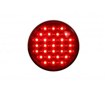 Круглий діодний задній ліхтар червоний