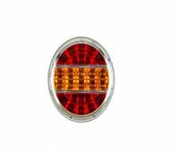 Задний диодный круглый фонарь с хромированным ободком