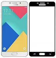 3D защитное стекло для Samsung Galaxy A7 2016 SM-A710 (на весь экран) Черный