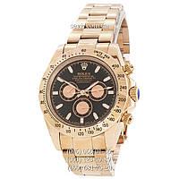 Часы наручные Rolex Daytona AAA Gold-Black-Gold Rose (реплика) 010ff3b8981