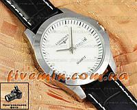 Наручные мужские часы Longines Quartz Date Silver White календарь кварцевые японский механизм