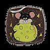 """Тарелка (м.кв.) """"Мышка с сыром"""""""