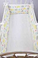 """Бортик-защита в кроватку """"Улитка"""" Зверята на всю кроватку для ребенка ТМ MagBaby Разноцветный 130554"""