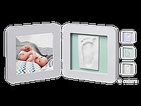 Двойная рамочка пастель Бебі Арт (фоторамка + отпечаток ручки или ножки) ТМ Baby Art Пастель 34120138, фото 1