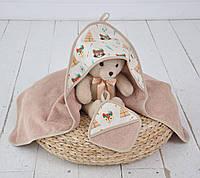 """Детский комплект для купания малыша """"Индейцы"""" (полотенце + рукавичка) ТМ MagBaby Разноцветный 130605"""