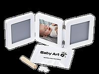Набор Baby Art Double Print Frame (фоторамка + отпечатки ручек и ножек) 34120052, фото 1
