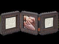 Набор Double Print Frame (фоторамка + отпечатки ручек и ножек) Baby Art медно-темно серый 3601093100