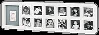 Набор фоторамка Первый год жизни + отпечаток ручки или ножки) Baby Art  белый 34120085