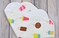 """Непромокаемая пеленка """"Мороженное"""" для новорожденного (60*80 см) ТМ MagBaby 130011, фото 1"""