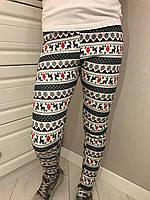 Лосины для девочки зимние орнамент р.122-140,146-164