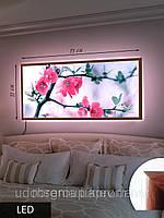 Картина с подсветкой на светодиодах, Сакура