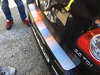 Накладка на задний бампер Volkswagen Passat B6 2006-2010 (нержавеющая сталь)