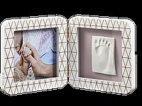 Рамочка Беби Арт Медно-белая (фоторамка + отпечаток ручки или ножки) Baby Art 3601092400, фото 1