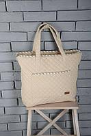 Стеганая сумка 2 в 1 (сумка - матрас для пеленания, сумка-пеленатор) ТМ MagBaby Бежевый 101250