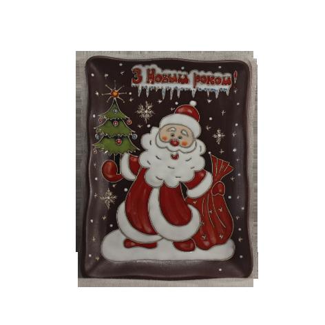 "Тарелка прямоугольная ""Дед Мороз"""