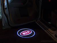 Дверной логотип LED LOGO 100 KIA, дверная подсветка, светодиодный логотип, подсветка двери на авто