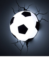 Ночник 3D football light , ночник мяч, детский ночник, светильник футбольный мяч, светильник мяч в стене