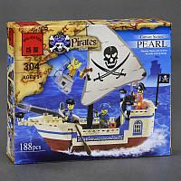 """BRICK 304 (72) """"Пиратский Корабль"""", 188 дет, в коробке СОБРАННЫЙ"""