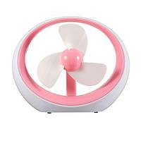 Вентилятор настольный USB DR-2013 (розовый)