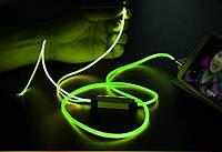 Светящиеся наушники EL Lighted Earphone Однотонное свечение Оригинал