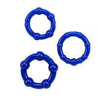 Chisa - Набор колец Beaded Cock Rings-Blue (291006)