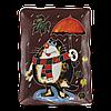 Тарелка прямоугольная «Кот с зонтом»