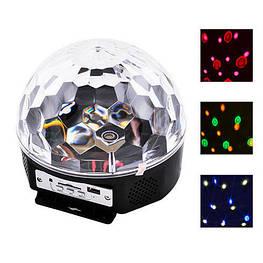 Светомузыка диско шар Magic Ball Music MP3 плеер с блютузом