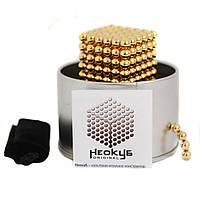 Игрушка NEOCUB золотой, Неокуб, нео куб, магнитные шарики, NEOCUBE, магнитный куб,