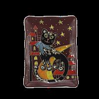 Тарелка прямоугольная «Ночная кошка»