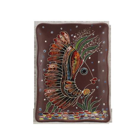 Тарелка прямоугольная «Рыбка ирокез»