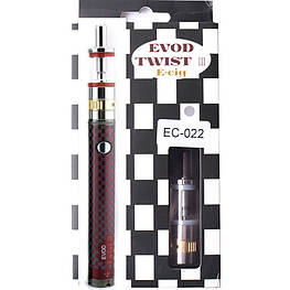 Електронна Сигарета 1600mah EVOD Twist 3 Red Aerotank M16 Micro USB з регулятором потужності