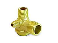 Обратный клапан для компрессора медный 1/2-3/8-1/8 PAtools КомпКл1мед