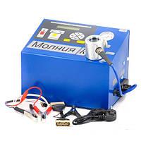 Установка для проверки свечей и коммутаторов Молния  (12В) с компрессором МОЛН