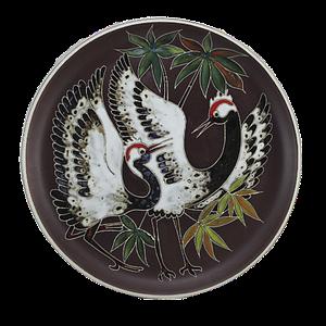 Декоративная настенная тарелка (ср) «Журавли»