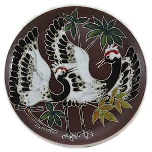 Декоративная тарелка (б) «Журавли»