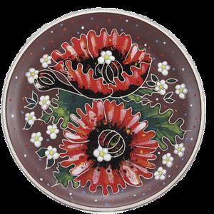 Декоративная тарелка (б) «Маки»